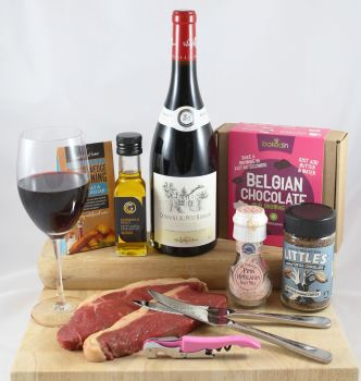 'For Her' Steak & Wine Gift Box