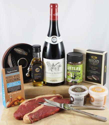 'For Him' Steak & Wine Gift Box