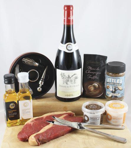 'A Bit of Romance' Steak & Wine Gift Box