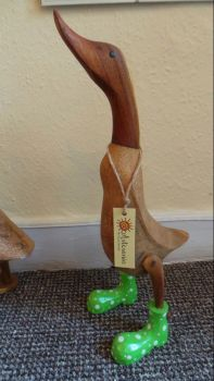 Bamboo Root Duck with Green Boots - 6