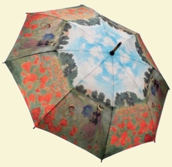 Monet Poppy Fields Stick Umbrella