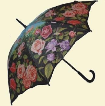 Rose Garden Stick Umbrella