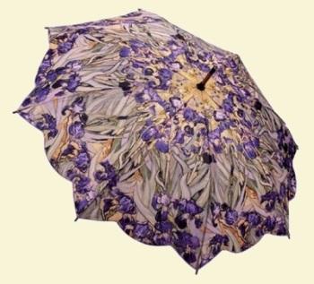 Van Gogh Irises Stick Umbrella