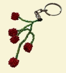Cherries Keyring