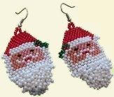 Santa Beaded Earrings