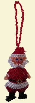 Santa Claus Keyring or Tree Decoration