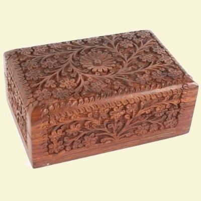 Floral Carved Box