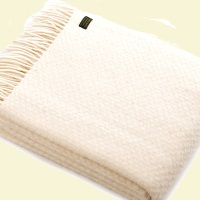 Tweedmill Wafer Pure New Wool Blanket - Cream