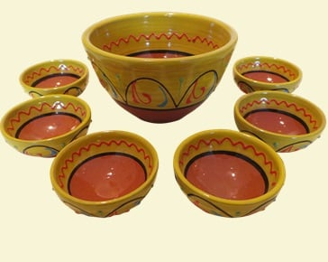 Burgos Mini Dip Bowl Set - Yellow