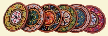 4 x Mini Tapas Plates - Assorted Designs