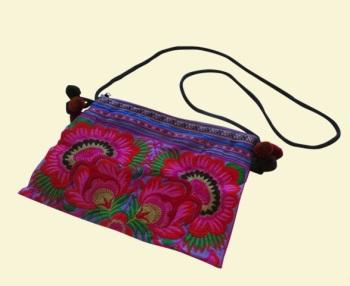 Embroidered Bag - Mauve Garden