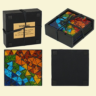 Mosaic Coasters - Set of 4
