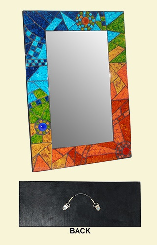 Mosaic Rectangle Mirror