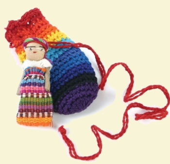 Worry Doll in Small Crochet Bag - SE