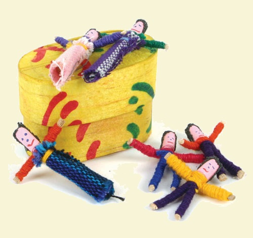 Small Worry Dolls in Box