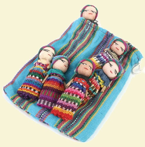 Large Worry Dolls in Bag