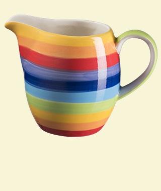 Rainbow Stripe Milk Jug