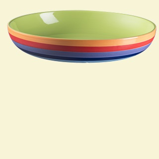 Rainbow Stripe Pasta Bowl