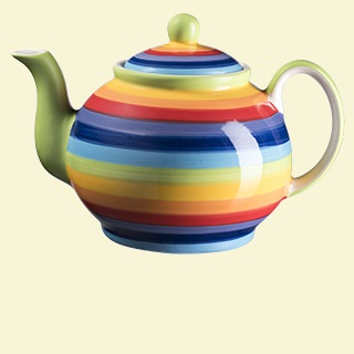 Rainbow Stripe Teapot