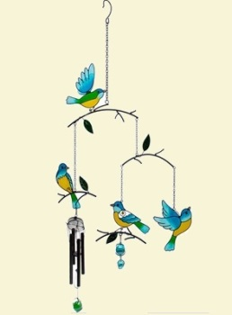 Birds in Branches Windchimes