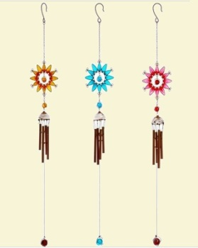 Coloured Sunflower Windchime - Medium