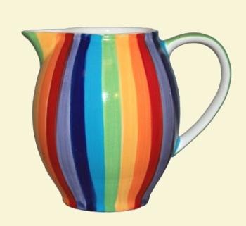Rainbow Stripe Jug