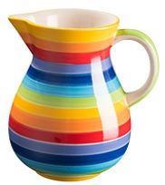 Rainbow Stripe Jug - Large