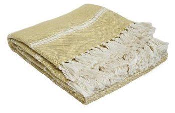 Oxford Stripe Gooseberry Blanket from Weaver Green