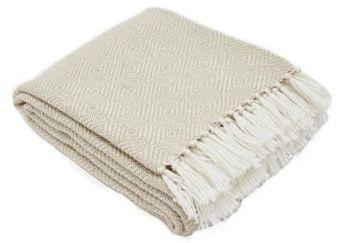 Diamond Linen Blanket from Weaver Green