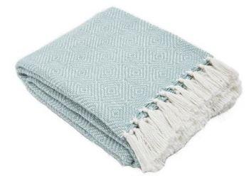 Diamond Teal Blanket