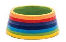 Rainbow Stripe Large Cat Bowl