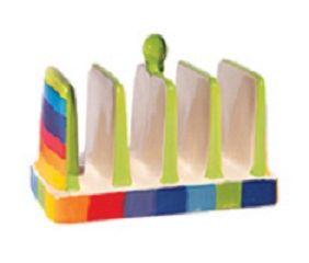 Rainbow Stripe Toast Rack