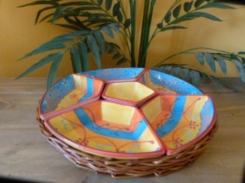 Snack Bowls in Basket - Huelva