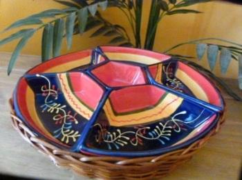 Snack Bowls in Basket - Cordoba