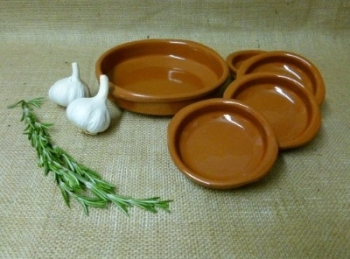 Cazuela Set with Handles - 1x18cm and 4x10cm