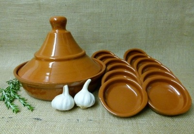 Tagine Set with 12 x 10cm Dishes