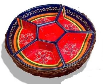 Snack Bowls in Basket - Malaga