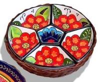 Snack Bowls in Basket - Pontevedra