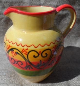 Glazed Handpainted 2 litre Sangria Jug - Granada