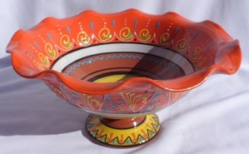 Burgos Terracotta Fruit Display Bowl - Orange