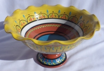 Burgos Terracotta Fruit Display Bowl - Yellow