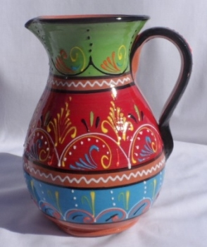 Burgos Large Jug Pitcher - Red Green Blue