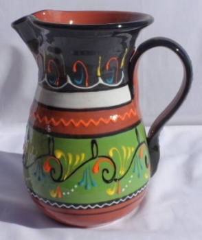 Burgos Jug Pitcher - Green/Charcoal
