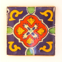 10.5cm Handpainted Tile - 04*