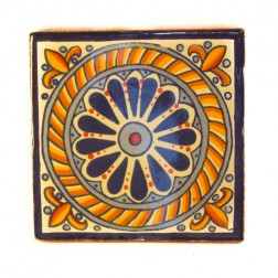 10.5cm Handpainted Tile - 14*