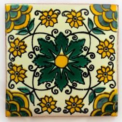 10.5cm Handpainted Tile - 23*