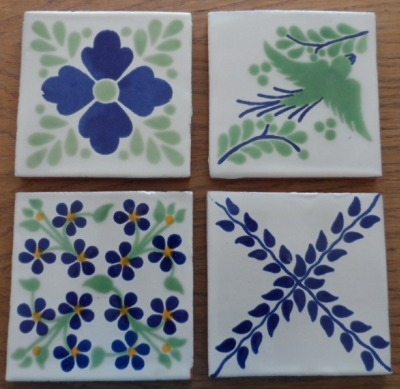 Coaster Set 1 - Blue and Green