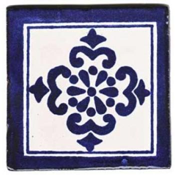 10.5cm Handpainted Tile - M024