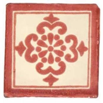 10.5cm Handpainted Tile - M026