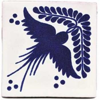 10.5cm Handpainted Tile - M046